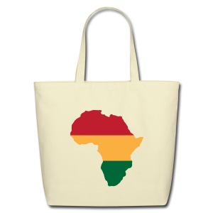 Africa - Red, Gold, Green - Eco-Friendly Cotton Tote