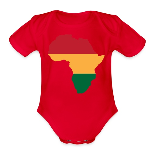 Africa - Red, Gold, Green - Organic Short Sleeve Baby Bodysuit