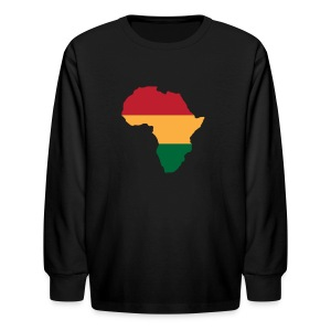 Africa - Red, Gold, Green - Kids' Long Sleeve T-Shirt