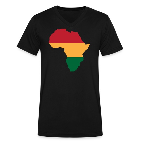 Africa - Red, Gold, Green - Men's V-Neck T-Shirt by Canvas