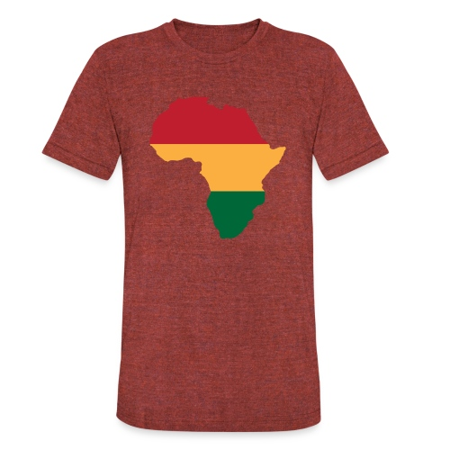 Africa - Red, Gold, Green - Unisex Tri-Blend T-Shirt