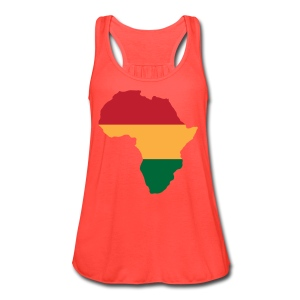 Africa - Red, Gold, Green - Women's Flowy Tank Top by Bella