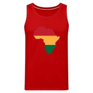 Africa - Red, Gold, Green - Men's Premium Tank