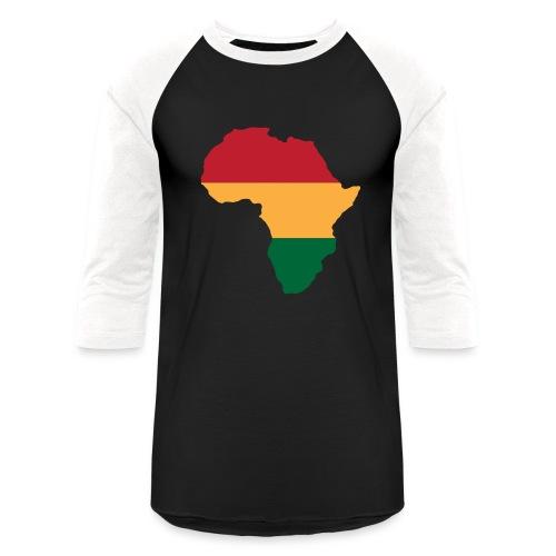 Africa - Red, Gold, Green - Baseball T-Shirt