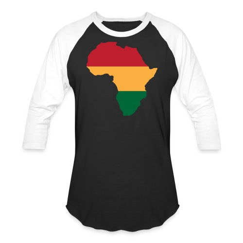 Africa - Red, Gold, Green - Baseball T-Shirt