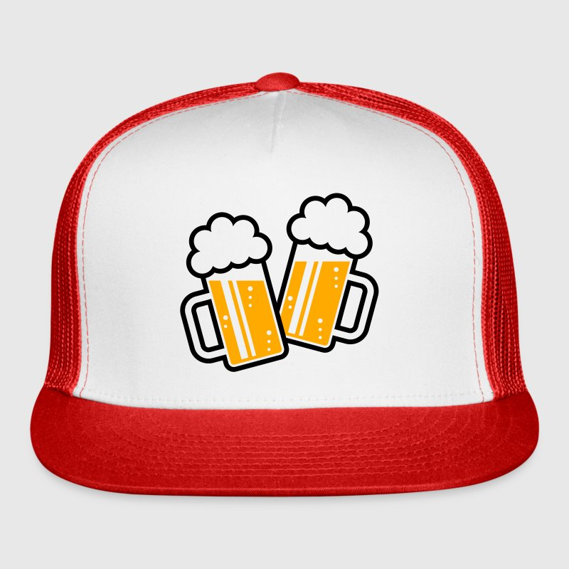 2 Clinking Beer Glasses For A Cheer! (2C) Sportswear - Trucker Cap