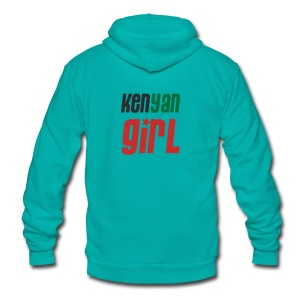 Kenyan Girl - Unisex Fleece Zip Hoodie by American Apparel