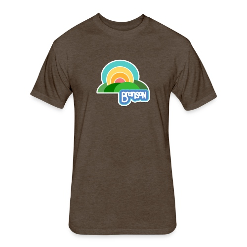 Retro Branson - Men - Fitted Cotton/Poly T-Shirt by Next Level