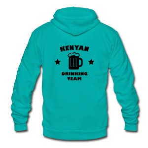 Kenyan Drinking Team - Unisex Fleece Zip Hoodie by American Apparel