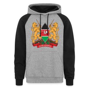The Kenya Coat of Arms - Colorblock Hoodie