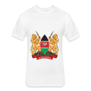 The Kenya Coat of Arms - Fitted Cotton/Poly T-Shirt by Next Level