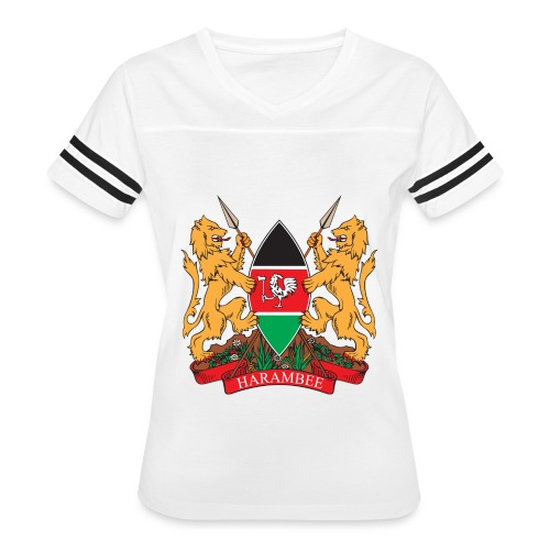 The Kenya Coat of Arms - Women's Vintage Sport T-Shirt