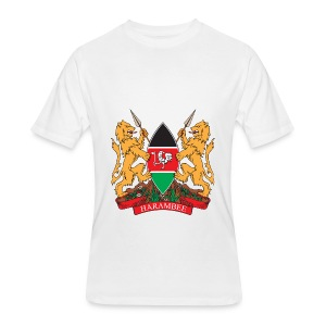 The Kenya Coat of Arms - Men's 50/50 T-Shirt