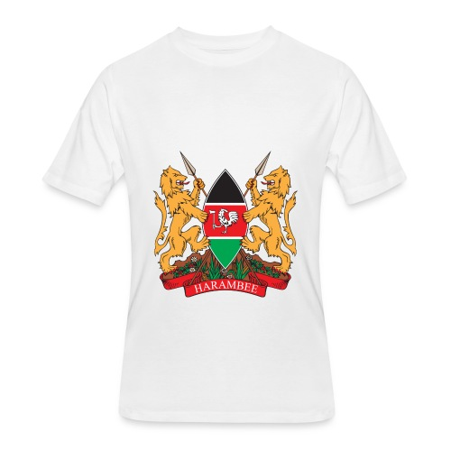 The Kenya Coat of Arms - Men's 50/50 T-Shirt
