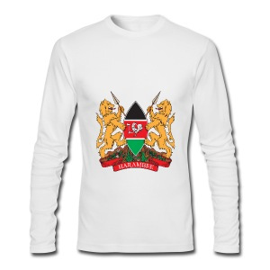 The Kenya Coat of Arms - Men's Long Sleeve T-Shirt by Next Level