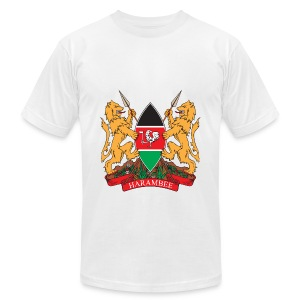 The Kenya Coat of Arms - Men's Fine Jersey T-Shirt