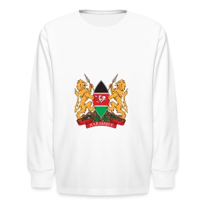 The Kenya Coat of Arms - Kids' Long Sleeve T-Shirt