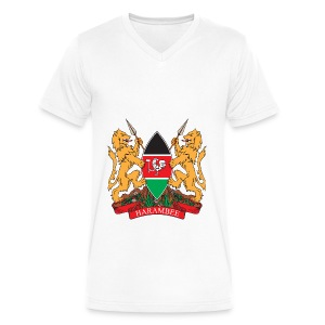 The Kenya Coat of Arms - Men's V-Neck T-Shirt by Canvas