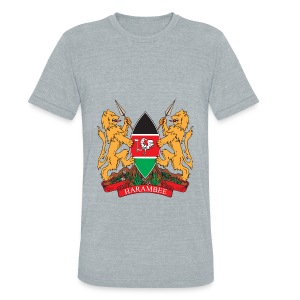 The Kenya Coat of Arms - Unisex Tri-Blend T-Shirt