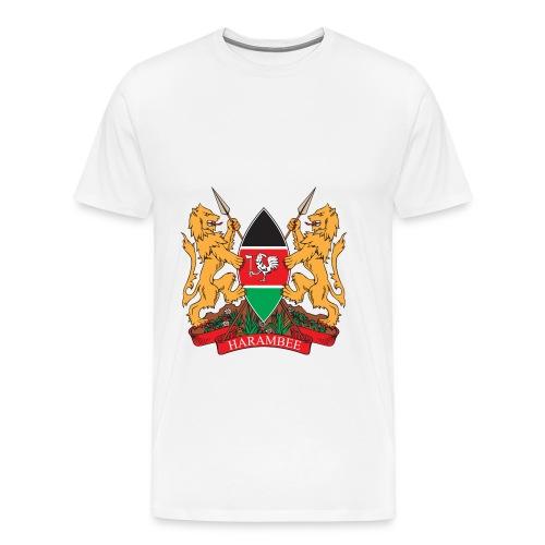 The Kenya Coat of Arms - Men's Premium T-Shirt