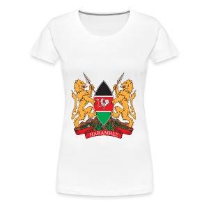 The Kenya Coat of Arms - Women's Premium T-Shirt