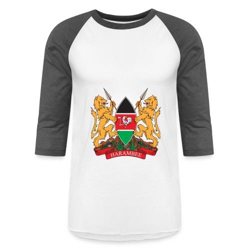 The Kenya Coat of Arms - Baseball T-Shirt