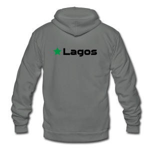 Lagos - Unisex Fleece Zip Hoodie by American Apparel