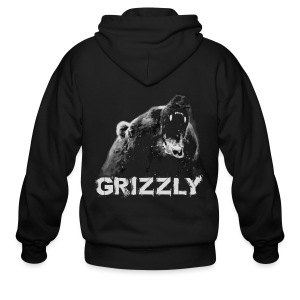 Grizzly Bear T-shirt - Men's Zip Hoodie