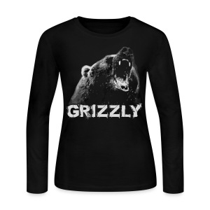 Grizzly Bear T-shirt - Women's Long Sleeve Jersey T-Shirt