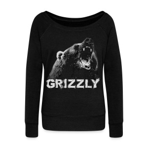 Grizzly Bear T-shirt - Women's Wideneck Sweatshirt