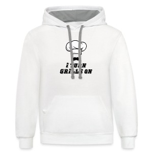 I Turn GRILLS On T-shirt - Contrast Hoodie