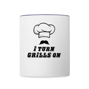 I Turn GRILLS On T-shirt - Contrast Coffee Mug