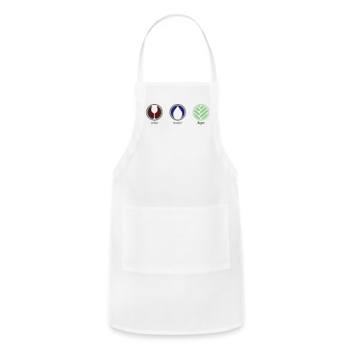 Wine Water Hope White T-shirt - Adjustable Apron