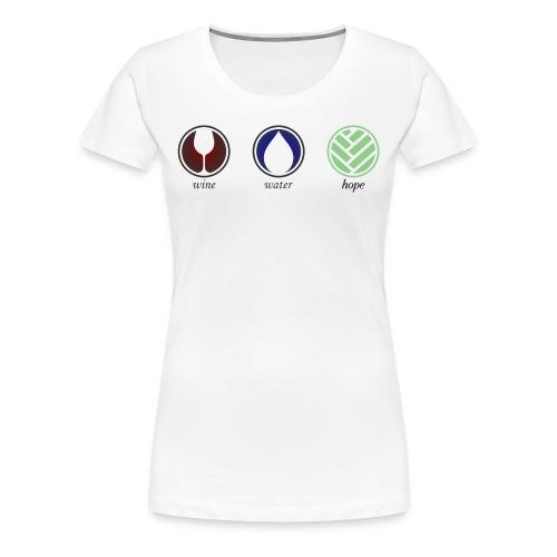 Wine Water Hope White T-shirt - Women's Premium T-Shirt