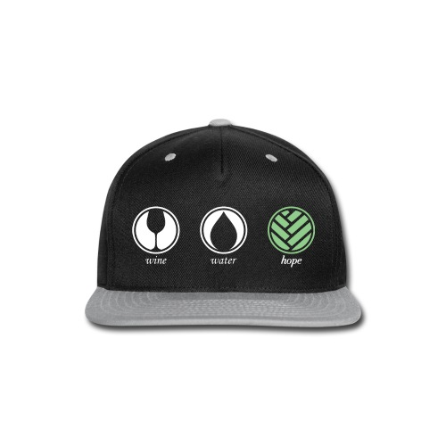 Wine Water Hope Black T-shirt - Snap-back Baseball Cap