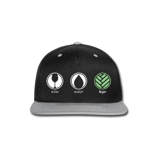 Wine Water Hope Black T-shirt - Snap-back Baseball Cap