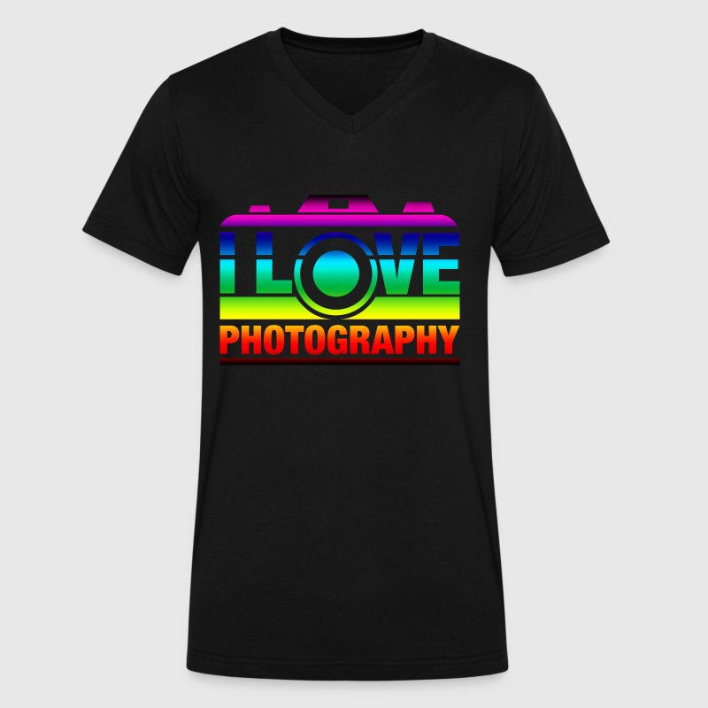 I Love Photography T-Shirts - Men's V-Neck T-Shirt by Canvas