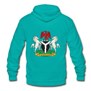 Nigeria Coat of Arms - Unisex Fleece Zip Hoodie by American Apparel