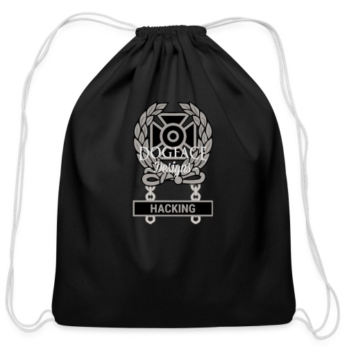 Expert Sh*t Talking Qualification Badge - Cotton Drawstring Bag