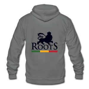 Roots Africa - Unisex Fleece Zip Hoodie by American Apparel