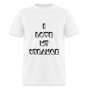 Men's I love My Strange T-Shirt - White - Men's T-Shirt
