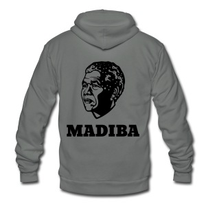 Madiba (Mandela) - Unisex Fleece Zip Hoodie by American Apparel