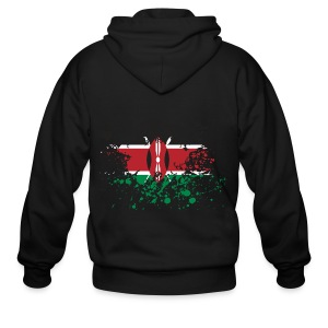 Kenya Flag Splash - Men's Zip Hoodie