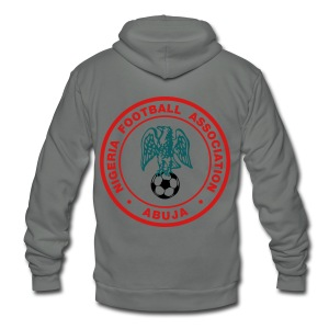 Nigeria Football Federation (Super Eagles) - Unisex Fleece Zip Hoodie by American Apparel
