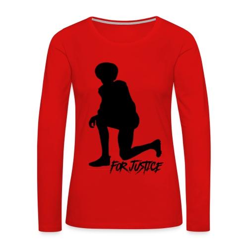 Kneel for Justice - Women's Premium Long Sleeve T-Shirt