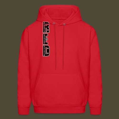 R.E.D. 3 Front And Back - Men's Hoodie