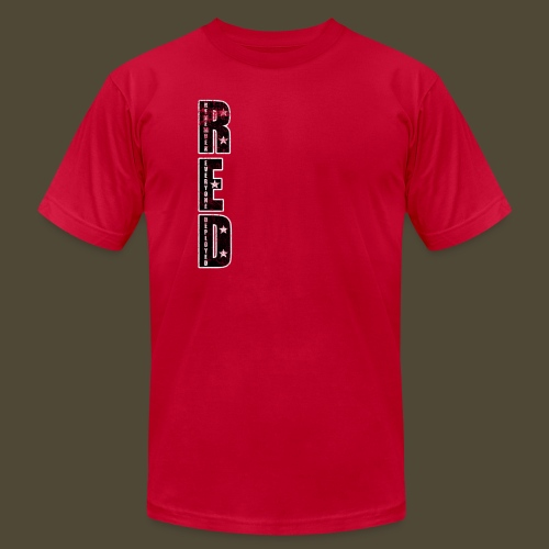 R.E.D. 3 Front And Back - Men's Fine Jersey T-Shirt