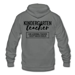 Cool Kindergarten Teacher - Unisex Fleece Zip Hoodie by American Apparel