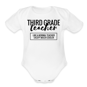 Cool Third Grade Teacher - Short Sleeve Baby Bodysuit