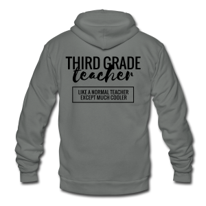 Cool Third Grade Teacher - Unisex Fleece Zip Hoodie by American Apparel